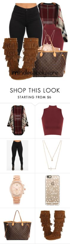 """You been working trynna up your networth baby"" by mindlesspolyvore ❤ liked on Polyvore featuring WearAll, Forever 21, Michael Kors, Casetify, Louis Vuitton and Minnetonka"