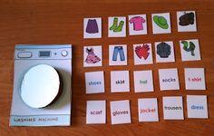 Nauczanie angielskiego dzieci - praca i pasja.: Clothes - let's do the wash.