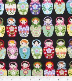 Novelty Cotton Print-Matryoshka Dolls Detailshttp://www.joann.com/novelty-cotton-print-matryoshka-dolls/11499993.html Item # 11499993
