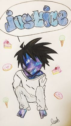 L. Lawliet death note fan art! I did this with colored pencils.
