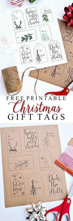 Free Printable Christmas Gift Tags | Ella Claire Inspired #christmasprintables #freechristmasprintables #christmascards #christmasgifttags #printablechristmascards #printablechristmasgifttags #christmaspapercrafts
