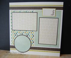 Simple Scrapbook Layouts | Video: 12″x12″ Scrapbook Layout