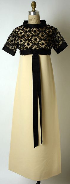 Evening Dress by Pierre Cardin: French, wool, silk & cotton, fall/winter 1967–68