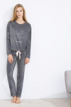 "women'secret | compra por precio | Hasta 10€ | Pijama largo de velour ""Starlight"""