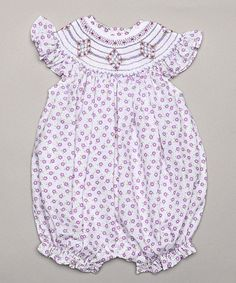 Purple Flower Bubble Romper - Infant by Classy Couture #zulily #zulilyfinds
