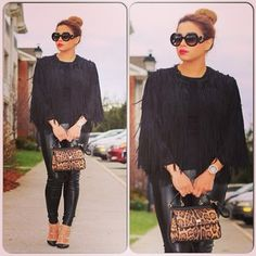 #OOTD ❤️ #H&M : Jacket Dolce & Gabbana : purse Forever21 : Leggings #Prada : Sunglasses #Valentino : Shoes ❤️