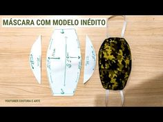 NOVO MODELO DE MÁSCARA DE PROTEÇÃO | DIY MASK - YouTube Ideias Diy, Diy Mask, Fashion Face Mask, Sewing Projects, Sewing Patterns, Knitting, Crafts, Influenza, Ideas