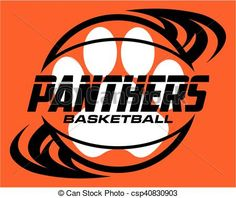 Vector - panthers basketball - stock illustration, royalty free illustrations, stock clip art icon, stock clipart icons, logo, line art, EPS picture, pictures, graphic, graphics, drawing, drawings, vector image, artwork, EPS vector art