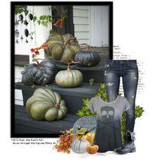 """Green - Blue Pumpkins"" by anna-nemesis on Polyvore"