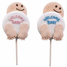 welcome baby cookie pops
