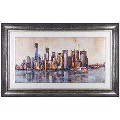 Occa Home New York From Afar By Marti Bofarull #art #wallart #painting #NewYork #NYC #cityscape