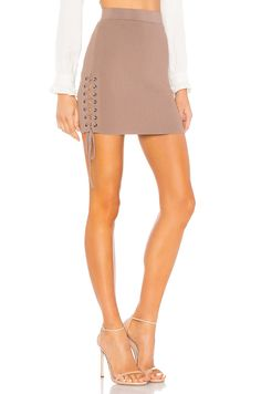 a941e072e3 About Us Giana Skirt in Taupe   REVOLVE Running Shops, Nude Skirt, Bustier  Top