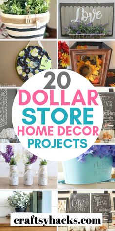 diy home decor dollar store organization ideas These dollar store decor projects are great for decorating home! Try some of these dollar store diy ideas and have fun decorating! Dollar Store Hacks, Dollar Tree Store, Dollar Stores, Dollar Dollar, Diy Home Crafts, Diy Crafts To Sell, Decor Crafts, Decor Diy, Diy Home Decor Projects