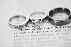 Rings and a bible verse...a must have picture!
