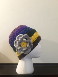 Handmade Milticolor Flower Wool Woman Winter Crochet Knit Beanie Hat   fashion  clothing  shoes f02e06c0312e