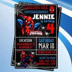 Spiderman/Spiderman Invitation/Spiderman Birthday/Spiderman
