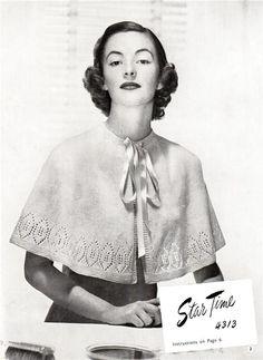 1940's Cape Vintage Knitting Pattern | eBay
