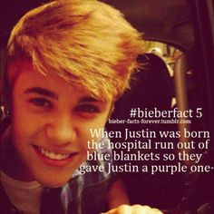 Is that why he loves purple?! If you see this @Justin Bieber ✓ comment yes or no