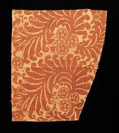 Textile fragment, Russian.  1700-1899.  Linen.  Metropolitan Museum of Art, Brooklyn Museum Costume Collection.