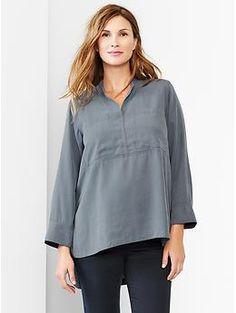 Tencel® tunic popover shirt