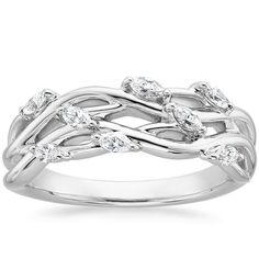 18K White Gold Blooming Willow Diamond Ring (1/4 ct. tw.) from Brilliant Earth