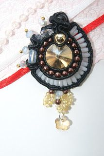 Soutache, beads, crystals-gift