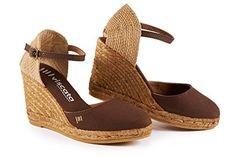 Elegant yet oh-so comfortable, the Satuna women's espadrille wedge is designed in Barcelona with love. Woven with natural jute fibers, our Satunas are handmade by Spanish artisans in the traditio Closed Toe Espadrilles, Womens Espadrilles Wedges, Heeled Espadrilles, Espadrille Wedge, Platform Wedge Sandals, Wedge Shoes, Everyday Shoes, Brown Wedges, Clearance Shoes