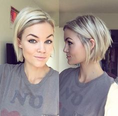 Short choppy bob IG: @krissafowles