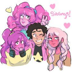 Ideas Pink Hair Anime Cartoon For 2019 Steven Universe Anime, Perla Steven Universe, Steven Universe Characters, Steven Universe Drawing, Steven Universe Funny, Steven Universe Fusion, Universe Images, Universe Art, Rose Tumblr