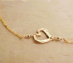 Sideways Heart Necklace,  I like it, it's cute..