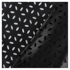 Simili cuir souple ajouré fleur marguerite noir x 10cm Motifs, Polka Dot Top, Women, Fashion, Daisy, Fabrics, Flowers, Moda, Fashion Styles