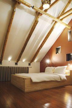 Voorbeeld van een dakconstructie schuur schuur blokhut pinterest van - Lay outs slaapkamer onder het dak ...
