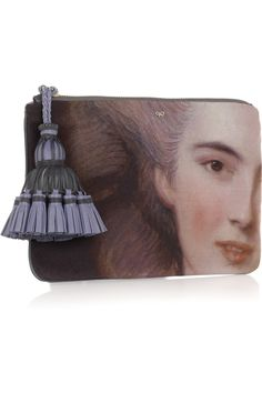 Anya HindmarchCourtney Lady printed canvas and leather clutch