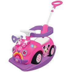 Mickey Mouse Clubhouse 4-in-1 Ride On - The safety features make this a good option for little ones who want to ride on a toy.