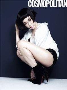 """Ga In Shows Off Her Edgy Beauty In Photoshoot with """"Cosmopolitan"""" 