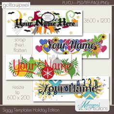 Meagan's Creations: Siggy Templates Holiday Edition. $1.05. *