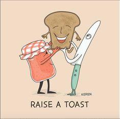 Items similar to Toast Art Print Food Poster Jam Digital Print. on Etsy food poster