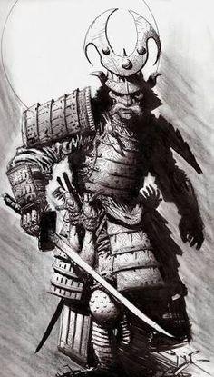 Image result for samurai Drawings