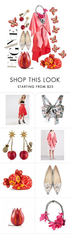 """""""Pink Cape"""" by dizzier on Polyvore featuring ASOS, Zimmermann, Gucci, Sies Marjan, Sophia Webster and Lanvin"""