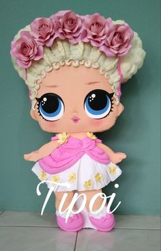 Unicorn Pinata, Unicorn Party, Diy Birthday, Birthday Parties, Doll Party, Biscuit, Fondant Figures, Lalaloopsy, Lol Dolls