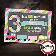 Choo Choo Train Girls Birthday Party by DownloadDistrict on Etsy, $8.00