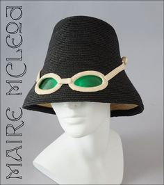 ICONIC 1960's Hat w/ Built in Sunglasses Italian - For sale on Ruby Lane