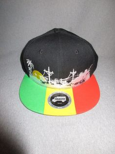Trukfit Snap Back Baseball Cap/Hat Red Yellow Green Black