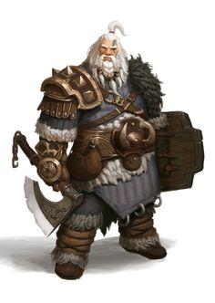 barbarian by Hyeon Gwan Nam on ArtStation. Fantasy Dwarf, Fantasy Rpg, Fantasy Artwork, Dungeons And Dragons Characters, Dnd Characters, Fantasy Characters, Fantasy Races, Fantasy Warrior, Game Character