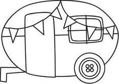 Embroidery Designs at Urban Threads - Caravan Applique Templates, Applique Patterns, Embroidery Applique, Cross Stitch Embroidery, Quilt Patterns, Machine Embroidery, Embroidery Designs, Sewing Patterns, Applique Ideas