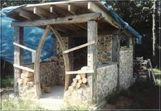 Gorgeous cordwood construction