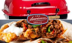 Grilled Fajitas with Americana Grills! 🔥🌯🔥🌯🔥🌯#americanagrills #grillingseason 🔥🌯🔥🌯🔥🌯 Stuffed Green Peppers, Red Peppers, Fire Grill, Chipotle Pepper, Mexican Cheese, Canned Black Beans, Fajitas, Grills, Burritos
