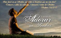 """SALMO 116 1 Eu amo o Senhor, porque ele me ouviu quando lhe fiz a minha súplica. 2 Ele inclinou os seus ouvidos para mim; eu o invocarei toda a minha vida. 3 As cordas da morte me envolveram, as angústias do Sheol vieram sobre mim; aflição e tristeza me dominaram. 4 Então clamei pelo nome do Senhor: """"Livra-me, Senhor! """" 5 O Senhor é misericordioso e justo; o nosso Deus é compassivo. 6 O Senhor protege os simples; quando eu já estava sem forças, ele me salvou. 7 Retorne ao seu descanso, ó…"""