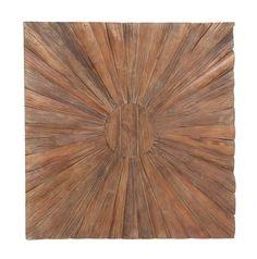 47x 47 Large Sunburst Brown Wood Wall Art Sculpture Modern Abstract Rustic Decor