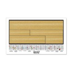 2017 Calendar Blonde Wood Planks Wall Decal  More than 100 to choose from.  Follow this link   http://www.cafepress.com/cheylines/14087576